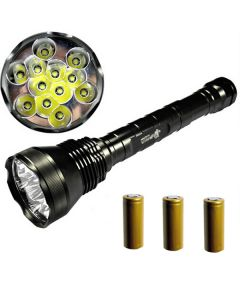 EternalFire 12T6 High Power 12 * CREE XM-L T6 LED-toorts 13800 Lumens 5 Modi LED Zaklamp Set-Complete Set