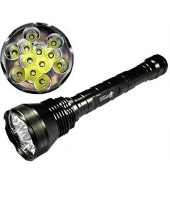 EternalFire 12T6 High Power 12 * CREE XM-L T6 LED-toorts 13800 Lumen 5 Modi LED Zaklamp Set-Light Unit alleen