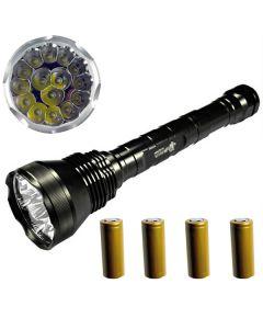 EternalFire 15T6 High Power 15 * CREE XM-L T6 LED Torch 18000 Lumen 5 Modi LED Zaklamp Set-Complete Set