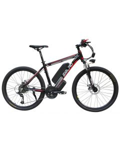 SMLRO 26 inch elektrische berg fiets aluminiumlegering ebike 27speed e-mtb 48V lithium batterij 500W motor hybride fiets