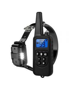 2020 Nieuwe 800m Elektrische Dog Training Collar Pet Afstandsbediening Waterdicht Oplaadbaar met LCD-scherm voor alle Size Shock Trillingsgeluid