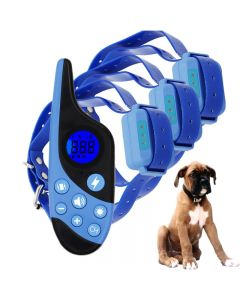 2021 NIEUWE 500 M Elektrische Hond Trainingskraag Huisdier Afstandsbediening Waterdicht Oplaadbaar met LCD-scherm voor alle Size Shock Trillingsgeluid