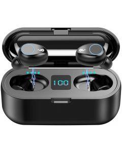F9 TWS Wireless Bluetooth 5.0-oordopjes, IPX7 Waterproof Touch-hoofdtelefoon in-ear sportdraaiende oortelefoon