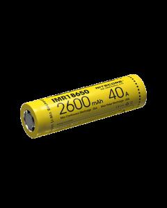NiteCore IMR18650 2600mAh 40A oplaadbare batterij-1pc