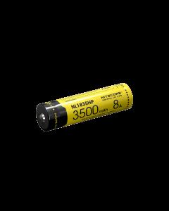 NiteCore NL1835HP 3500mAh 3.6V .6Wh 8A hoge prestaties 18650 batterij