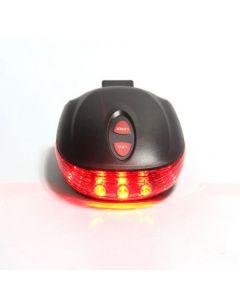 5LED + 2laser 7 Flash-modus Fietsen Veiligheid Fiets Achterlamp, Waterdichte Fiets Laser Tail Light Waarschuwingslampje Knippert