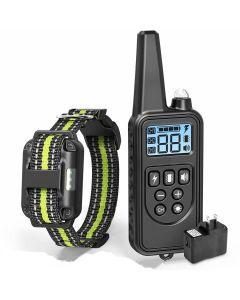 2019 Nieuwe 800m Elektrische Dog Training Collar PET Afstandsbediening Waterdicht oplaadbaar met LCD-display voor alle maten Bark-stop-halsbanden