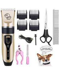 Huisdier Opladen Elektrische Clippers, Pet Electric Shaver Cat and Dog Electric Hair Clipper, Dog Professional Beauty Trim Set kan in rekening worden gebracht