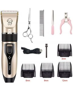 Pet Dog Hair Clippers Draadloze Low Noise Oplaadbare Hond Grooming Scheerapparaat Clippers