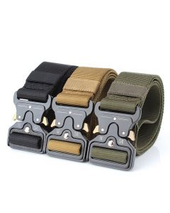 Enniu tactische riemen nylon riem met metalen gesp instelbare heavy duty training taille riem jacht accessoires