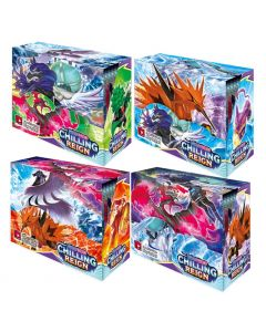 4X360 stks Pokémon TCG: Sword & Shield Chilling Reign Booster Display Box Collection Card Game Toy Kids Gift