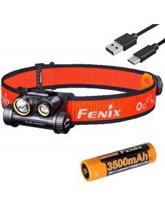 Fenix HM65R-T 1500 Lumen Dual Beam USB-C oplaadbare koplamp, lichtgewicht voor trailrunning met LumenTac Battery Organizer
