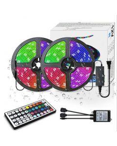 LED Strip Lights RGB 300LED 10 M Color Changing 5050 Flexibele LED Touw Verlichting LED Strip Lights Kit met 44 Sleutels IR-afstandsbediening en UL-voeding voor slaapkamer Kamer Home Kitche