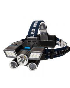 5LED-koplamp USB Opladen Camp Hike Noodlantaarn Fishing Outdoor Equipment