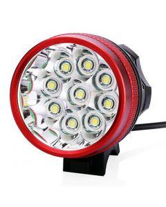 9T6 fiets licht 9 * Cree XM-L T6 10800 lumen 3 modi LED fiets koplamp omvatten batterij en lader - Red
