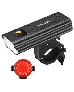 Nitebeam BR05 Fietsverlichting 5x CREE XML T6 5000 Lumen USB Oplaadbare fietslicht voor- en fietstaartlicht