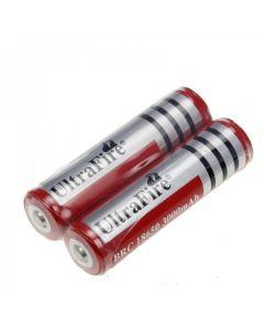 UltraFire BRC 3000 MAH 3.7V 18650 Batterij met PCB (1 paar)