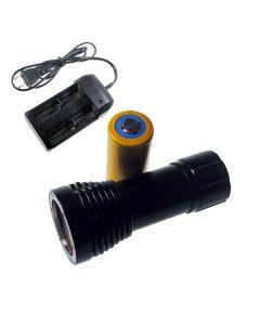 D32VR duiken licht 2 x CREE XM-L T6 + 2 xCREE XP-E 100 meter onderwater fotograferen duiken Flashlight Zaklamp + 1 x 32650 + lader