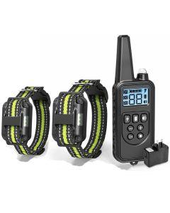 Elektrische hondentraining met LCD-scherm Kraag Waterdichte oplaadbare bark-stop afstandsbediening Collars voor Shock Trillingsgeluid