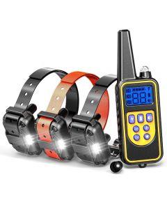 800YD Elektrische Remote Dog Training Collar Waterdicht Oplaadbaar LCD-scherm voor alle Maat Beep Shock Trillingsmodus