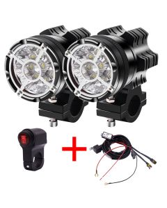 LED Motorfiets Spotlight Universal 12V 9LED KRALEN 90W Waterdichte Mist Spot MOTOS BLIB MOTORBIKE KOPLOOG HEUKTELLAMP