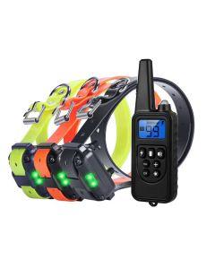 800m Elektrische Dog Training Collar Pet Afstandsbediening Waterdicht oplaadbaar met LCD-scherm voor alle maat Shock Trillingsgeluid
