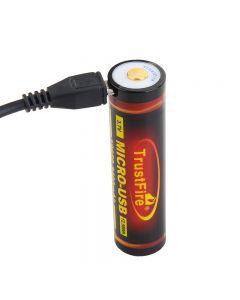 Trustfire 18650 3400 MAH 3.7V Micro USB-oplaadbare li-ionbatterij