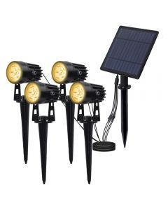 Solar Powered Spotlight Solar Panel Outdoor Lighting Landscape Yard Garden Tree apart lamp