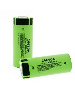 100% originele nieuwe 26650A Li-ion batterij 3.7V 5000mA oplaadbare batterijen
