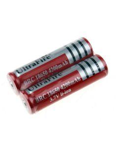 UltraFire BRC 4200mAh 3.7V Li-ion oplaadbare 18650 batterij (1 paar)