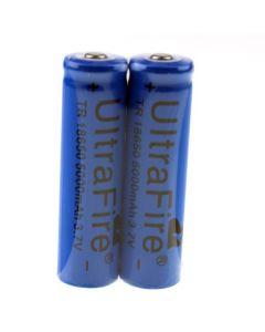 UltraFire TR 5000mah 3.7V 18650 Li-ion oplaadbare batterij (1 paar)