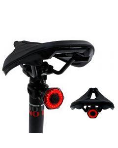 Smart Bicycle Tail Achterlicht Auto Start Stop Rem IPX6 Waterdichte USB Lading Fietsstaart Achterlicht Fiets LED-verlichting