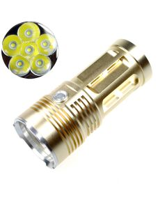 EternalFire koning 6T6 6 * Cree XM-L T6 LED Torch 6000 lumen 3 modi LED zaklamp-Glod-Light Unit alleen