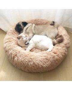 Ronde kat bed huis zachte lange pluche beste huisdier hondenbed voor honden mand huisdier producten kussen kat huisdier bed mat kat huis dieren sofa