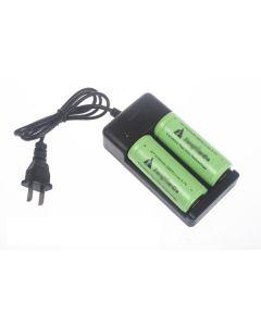 Batterijlader voor dubbele 18650/26650 oplaadbare batterijen (AC 100 ~ 240V)
