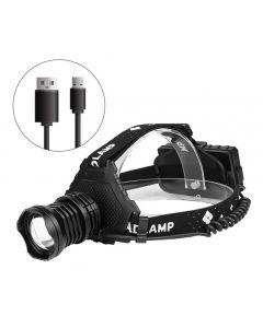 Meest krachtige XHP70 LED-koplamp 8000LM Hoofdlamp USB Oplaadbare Koplamp Waterdichte Zoom Vislicht Gebruik 18650 Batterij